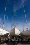Yachts in Dry-Dock Stock Image