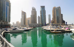 Yachts in Dubai Royalty Free Stock Photo