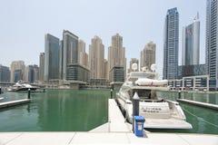 Yachts in Dubai Harbour, United Arabic Emirates Stock Photography