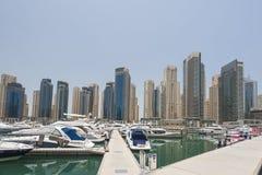 Yachts in Dubai Harbour, United Arabic Emirates Stock Photos