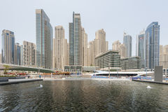 Yachts in Dubai Harbour, United Arabic Emirates Royalty Free Stock Photos