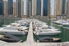 Yachts in Dubai Harbour, United Arabic Emirates Stock Photo