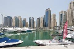 Yachts in Dubai Harbour, United Arabic Emirates Stock Image