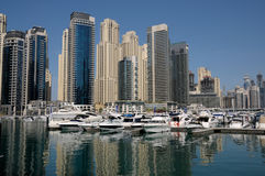 Yachts at Dubai Marina Stock Image
