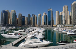 Yachts at Dubai Marina Royalty Free Stock Images