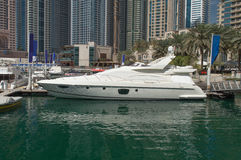 Yachts at Dubai Marina Royalty Free Stock Photo