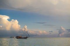Yachts en mer photo libre de droits