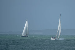 A yachts  on the English Channel Stock Photography