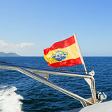 Yachts Ensign (Spain) on boat Royalty Free Stock Photos