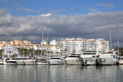Yachts in Estepona marina, Spain Royalty Free Stock Photography