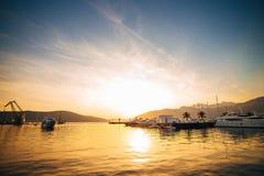 Yachts et bateaux en Mer Adriatique Photo libre de droits