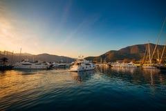 Yachts et bateaux en Mer Adriatique Photographie stock