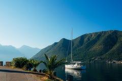 Yachts et bateaux en Mer Adriatique Photos stock