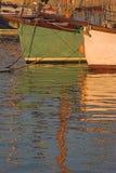 Yachts et réflexions photographie stock