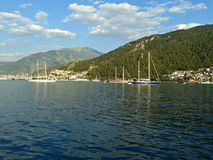 Yachts in Fethiye Royalty Free Stock Photo