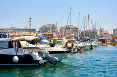 Port of Torrevieja city. Costa Blanca. Spain Royalty Free Stock Images