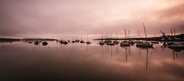 Yachts and fishing boats royalty free stock photos