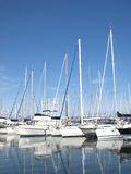 Yachts in french riviera harbor Stock Image