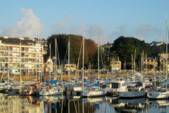 Yachts on french seaside Royalty Free Stock Photography
