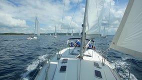 Yachts go to sea. Yacht Racing