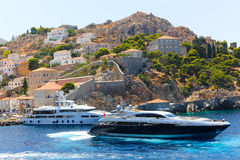 Yachts - Greece Royalty Free Stock Photography