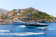 Yachts - Greece Islands Royalty Free Stock Images