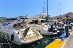 Yachts - Greece Islands Stock Photos
