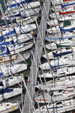 Yachts in the harbor Stock Photography