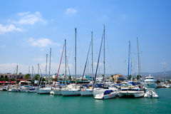 Yachts in harbor Royalty Free Stock Photo