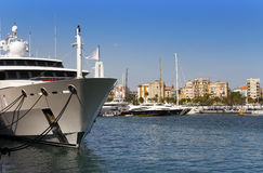 Yachts in harbor of Barcelona Stock Photography