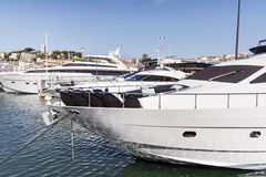 Yachts in the harbor of Cannes, France Stock Photo