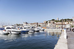 Yachts in the harbor of Cannes, France Royalty Free Stock Images