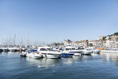 Yachts in the harbor of Cannes, France Stock Image
