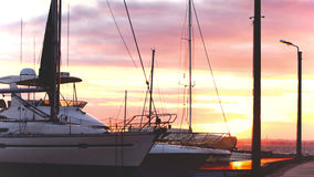 Yachts in harbor Royalty Free Stock Image