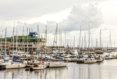 Yachts Harbor Royalty Free Stock Images