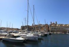 Yachts in Harbor, Malta Stock Image