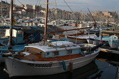 Yachts in the harbor Marseille Stock Photography
