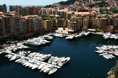 Yachts in the harbor of Monaco Royalty Free Stock Photos