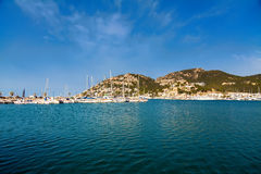 Yachts and harbor of Port d'Andratx Stock Images