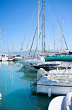 Yachts in harbor. Yachts in safe harbor. In Latchi, Cyprus Royalty Free Stock Images