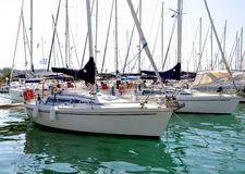 Yachts in the harbor Royalty Free Stock Photo