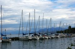 Yachts harbour. Royalty Free Stock Photos