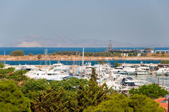Yachts in a harbour. Greece,Athens. Stock Image