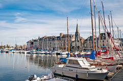Yachts in harbour of Honfleur, France Royalty Free Stock Image