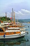 Yachts in harbour, Kaş, Turkey Stock Photography