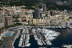 Monaco harbour. Yachts harbour in Monaco area Stock Image