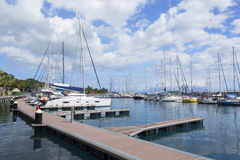 Yachts in harbour, Pape'ete, Tahiti, French Polynesia Stock Photography