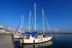Yachts in a harbour / Trapani, Sicily Royalty Free Stock Images