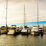 Yachts harbour Royalty Free Stock Images