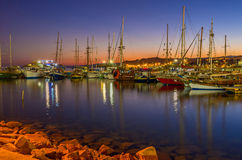 The yachts in haven Royalty Free Stock Photo